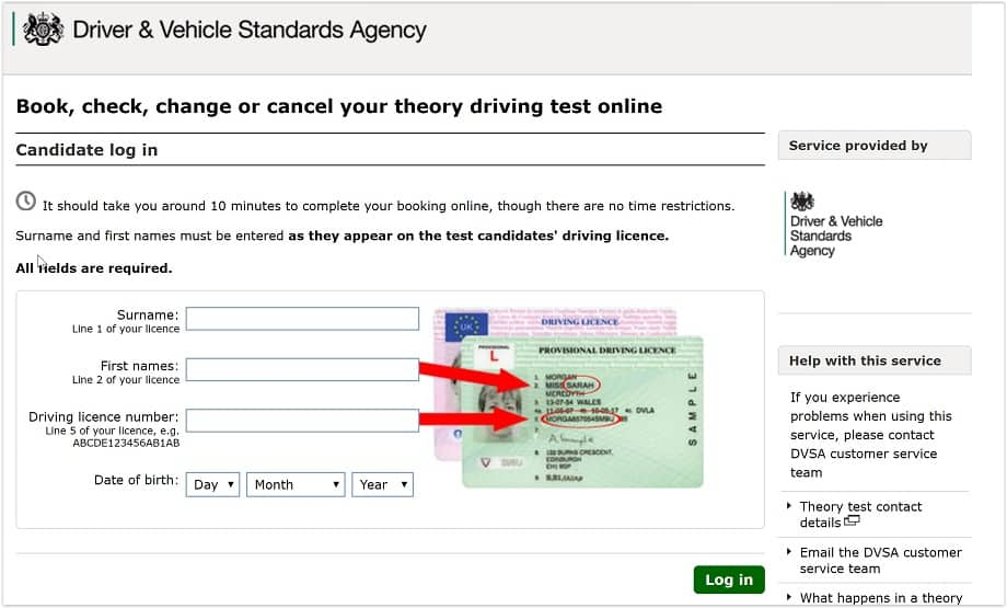book a theory test